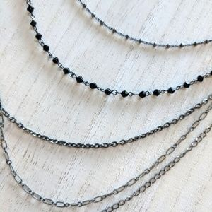 Jewelry - Black Multistrand Necklace